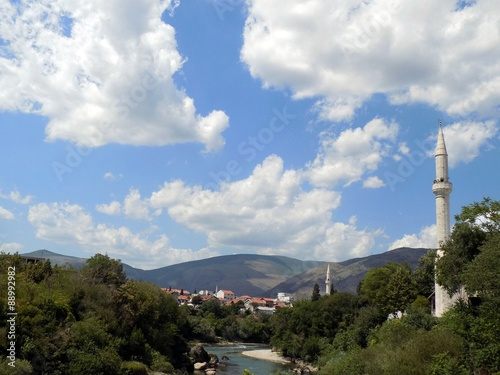 Papiers peints Paris View from Old bridge in Mostar