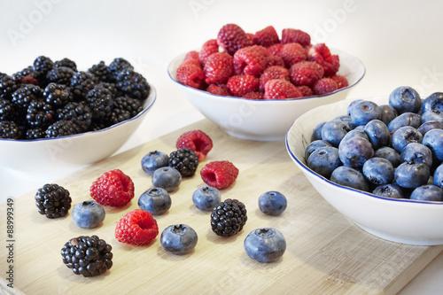 Some Sort Of Berries Blueberries Blackberries Raspberries