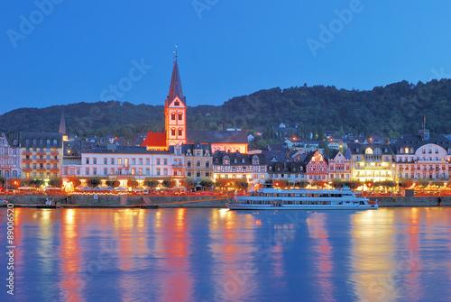 Fototapeta der berühmte Weinort Boppard am Rhein,Rheinland-Pfalz,Deutschland obraz na płótnie