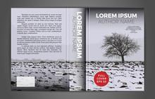 Full Book Cover Design. Vector.