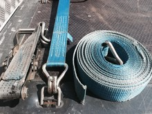 Truck Cargo Securing Straps And Ratchets