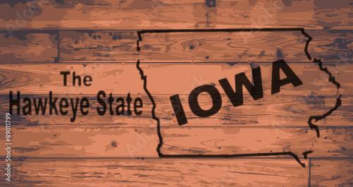 Photo  Iowa Map Brand