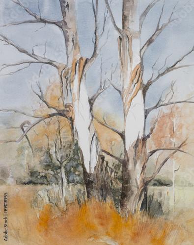 oryginalna-akwarela-drzewa-w-lesie-podczas-zimy