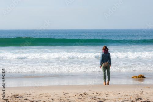 Fotografie, Obraz  Alleine am Strand
