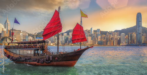 Photo  Hongkong harbor