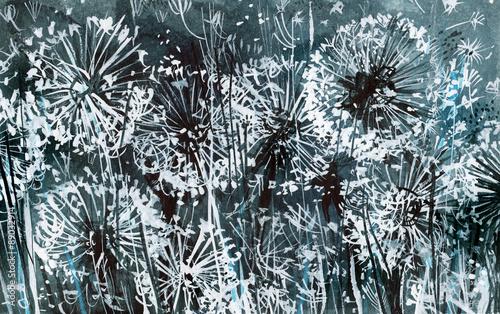 biale-mlecze-na-ciemnoniebieskim-wzorze-akwarela-karta-abstrakcyjne-tlo