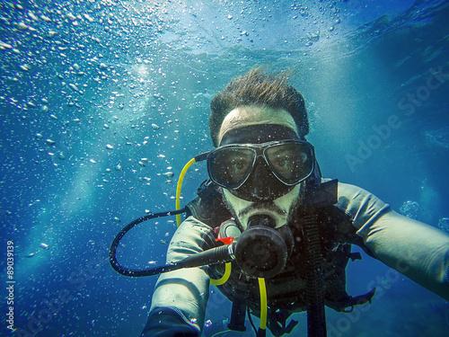 Obraz na plátne Diving