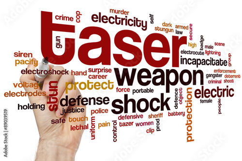 Fotografie, Obraz  Taser word cloud