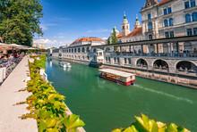 Ljubljana / Slowenien Mit Flus...