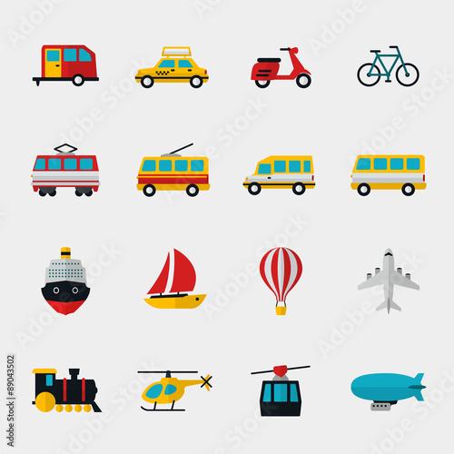 Garden Poster Cartoon cars Transport flat icons