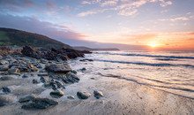 Sunrise On The Cornwall Coast