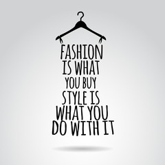 FototapetaInspirational quotation about style. Vector art.