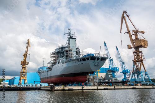 Schiffsbau, Werft Canvas Print