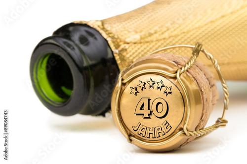 Champagner 40 Jahre Jubilaum Kaufen Sie Dieses Foto Und Finden Sie