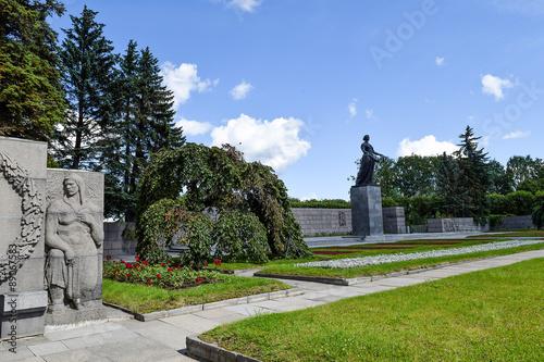 Poster  Piskaryovskoye memorial cemetery in Leningrad.