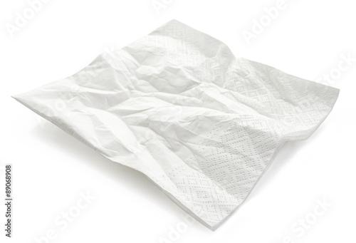 Fototapeta white paper napkin obraz