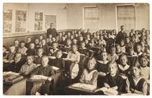 Retro Picture Of Classmates. G...