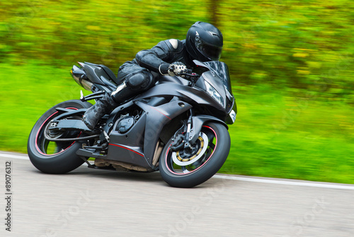 Motorbike racing Canvas