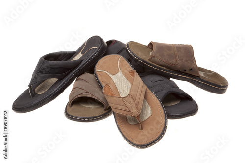 fdb8dc88cc1e Sandals and Thongs in White - Buy this stock photo and explore ...
