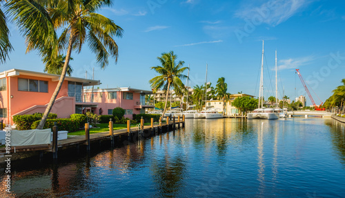 Fort Lauderdale Waterway Fototapeta
