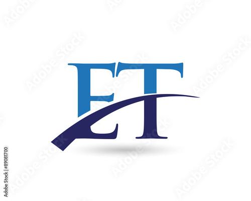 Photo  ET Logo Letter Swoosh