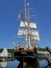 Two Masted Wooden Sailing Ship