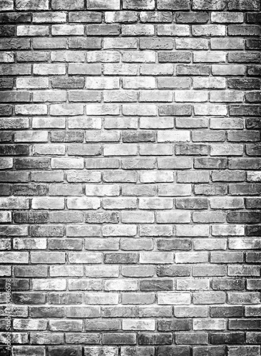 brick wall texture or background, gray colour Wallpaper Mural