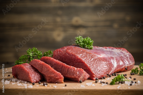 Poster Vlees Beef meat