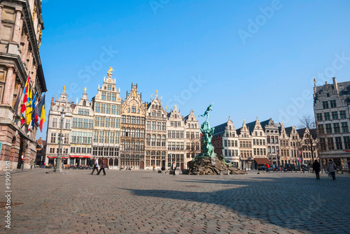 Poster Antwerp Antwerp old town, Belgium