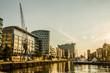 canvas print picture - Moderne Gebäude in der Hafencity von Hamburg