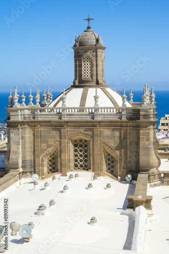 Dome of Santa Ana Cathedral in Las Palmas de Gran Canaria, Spain