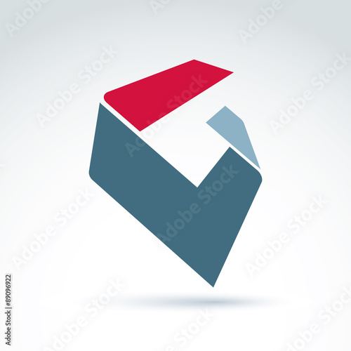 Abstract 3d Icon Abstract Symbol Vector Graphic Design