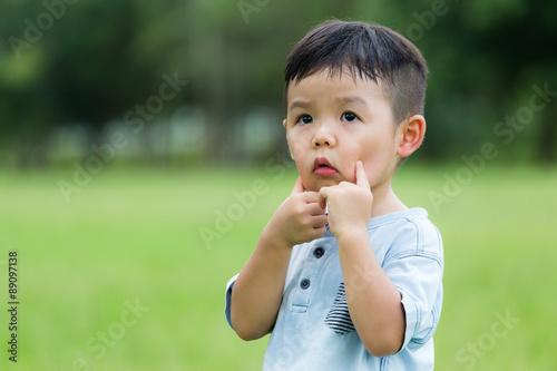 Valokuva  Little boy make a cute face