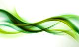 streszczenie zielona fala tło - 89102505