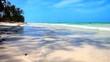 Krajobraz plaży w Zanzibarze