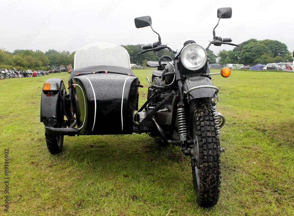 Fototapeta Motorbike and sidecar