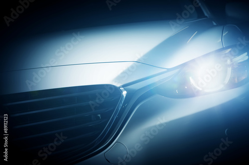 Photo  Modern luxury car close-up background