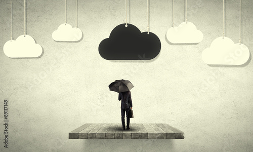 Obraz Pessimist in business - fototapety do salonu