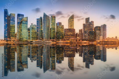 Fototapety, obrazy: Singapore Skyline and view of Marina Bay