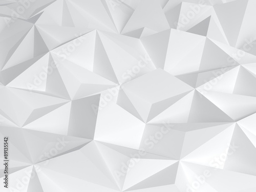 Photo 3D Abstract white polygonal forms