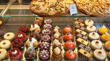French Pastries On Display A C...