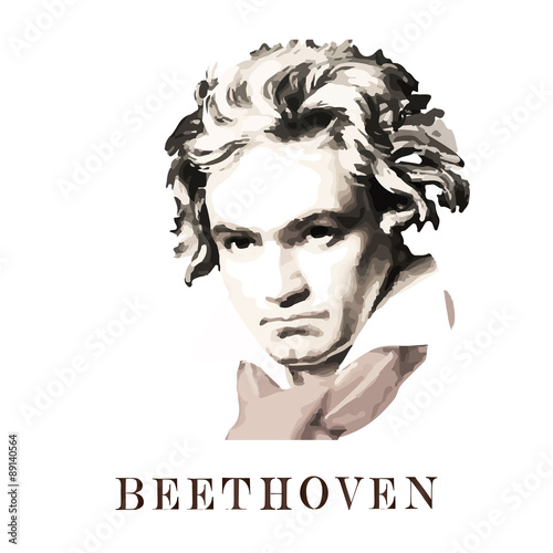 Composer Beethoven. Canvas Print