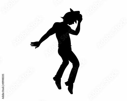 Fotomural moonwalk silhouette