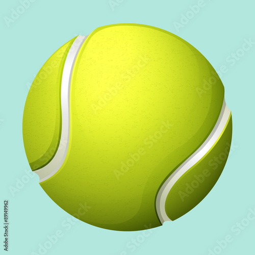 Tennis ball on green - 89149962