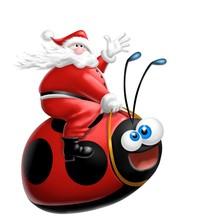 Babbo Natale Sulla Coccinella