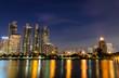 City town at night, Bangkok, Thailand
