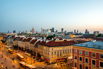FototapetaTop view of the old town in Warsaw
