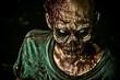 Leinwandbild Motiv toothy zombie