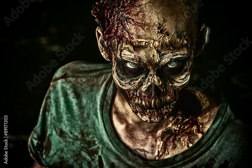 toothy zombie Canvas Print