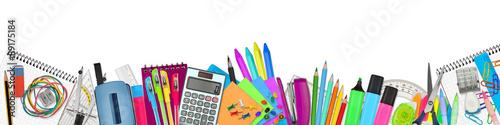 Fotografía school / office supplies on white background
